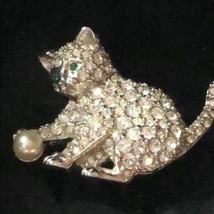 Authentic Swarovski Kitten Brooch